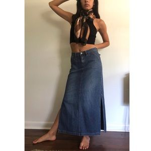 UNIONBAY **vintage** denim maxi skirt